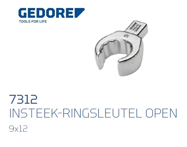 Gedore 7312.Insteek ringsleutel open SE 9x12 | DKMTools - DKM Tools