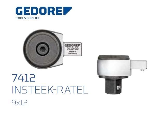 Gedore 7412.Insteek ratel SE 9x12 | DKMTools - DKM Tools