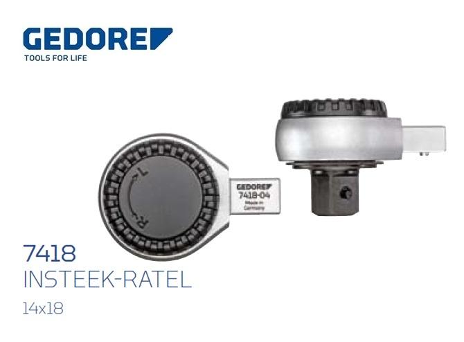 Gedore 7418.Insteek ratel SE 14x18 | DKMTools - DKM Tools
