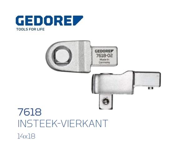 Gedore 7618.Insteek vierkant SE 14x18 | DKMTools - DKM Tools