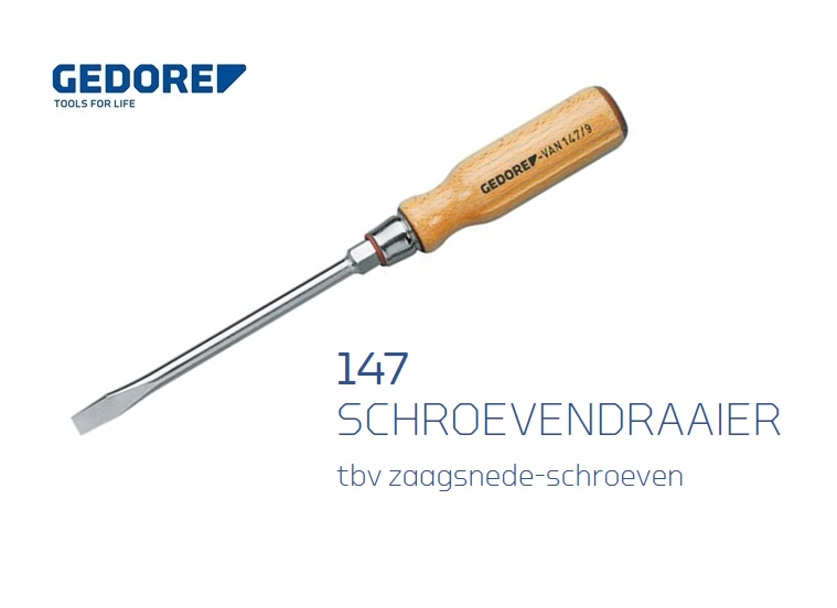 Gedore 147.Sleufschroevendraaier | DKMTools - DKM Tools
