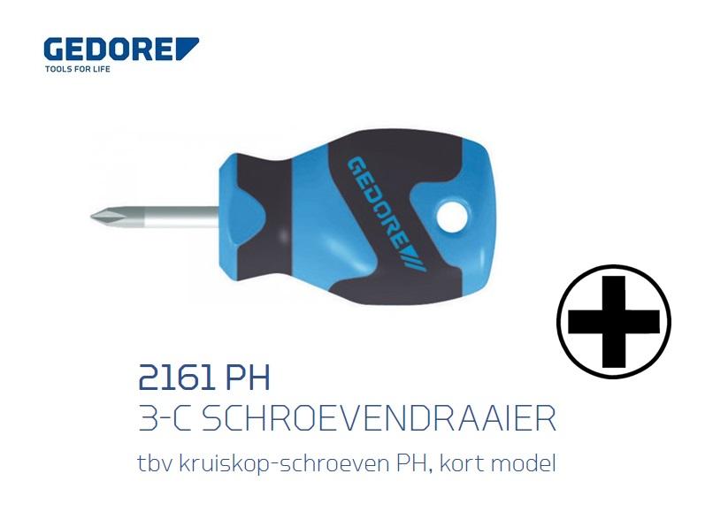 Gedore 2161 PH.3 C Schroevendraaier kort model   DKMTools - DKM Tools
