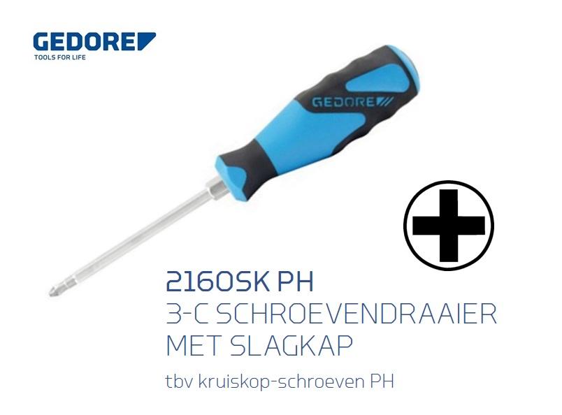 Gedore 2160SK PH Schroevendraaier met slagkap | DKMTools - DKM Tools