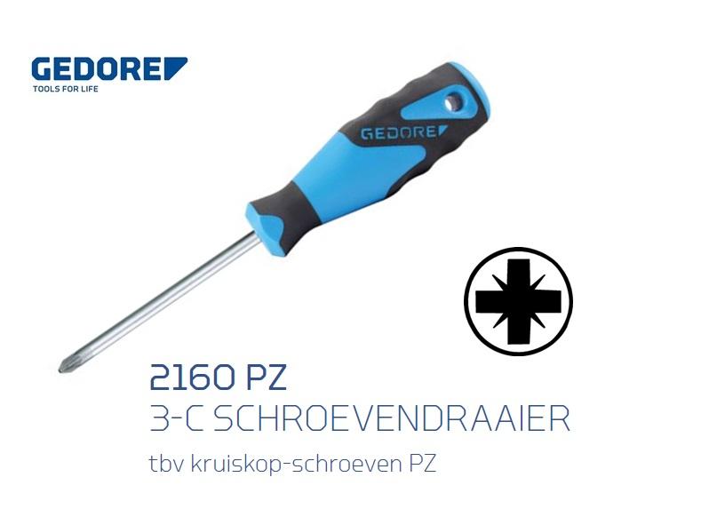 Gedore 2160PZ Schroevendraaier met ronde kling   DKMTools - DKM Tools