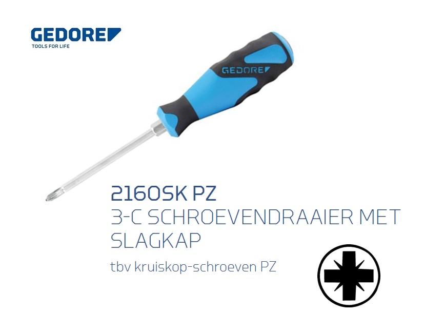 Gedore 2160SK PZ Schroevendraaier met slagkap | DKMTools - DKM Tools