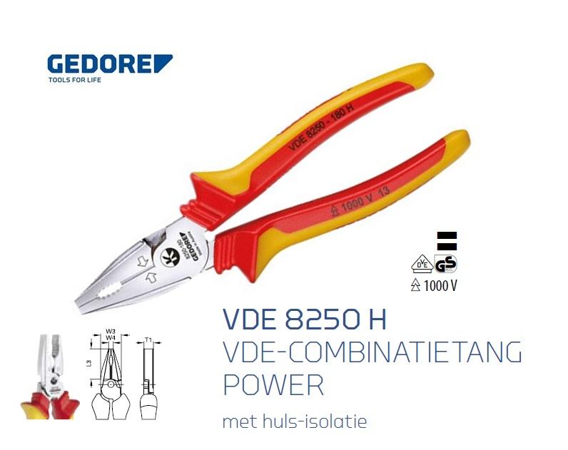 Gedore VDE 8250 H combinatietang | DKMTools - DKM Tools