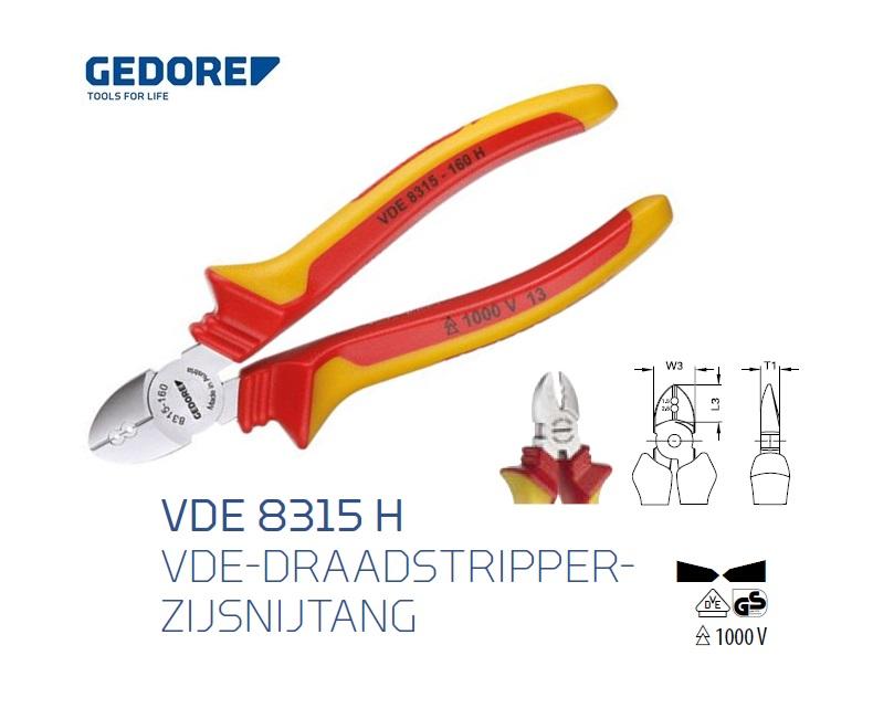 Gedore VDE 8315 H.Zijkniptang | DKMTools - DKM Tools