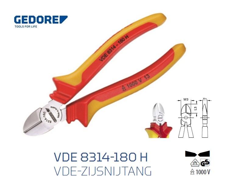Gedore VDE 8314 180 H.Zijsnijtang | DKMTools - DKM Tools