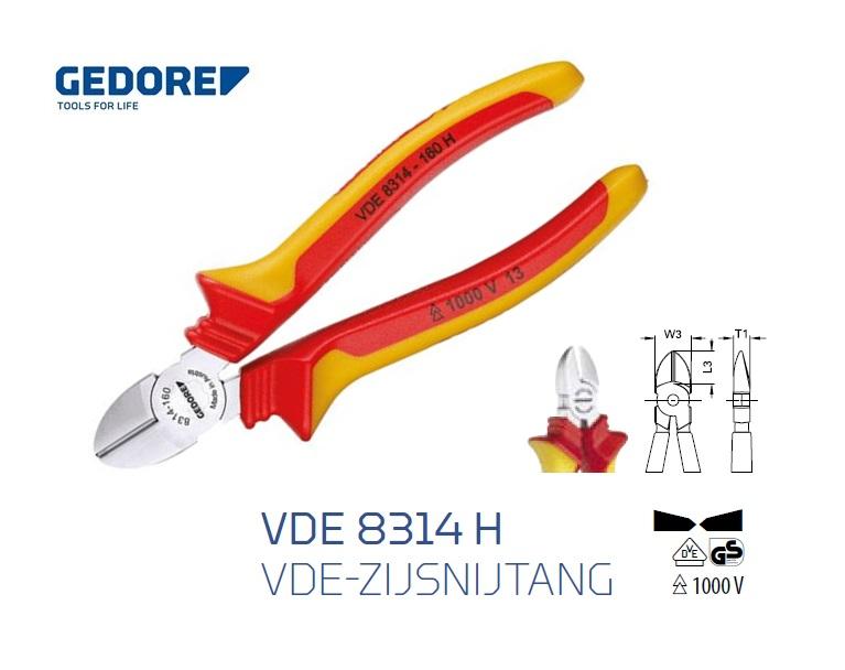 Gedore VDE 8314 H.Zijsnijtang | DKMTools - DKM Tools