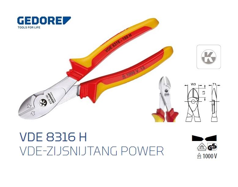 Gedore VDE 8316 H.Krachtzijsnijtang | DKMTools - DKM Tools