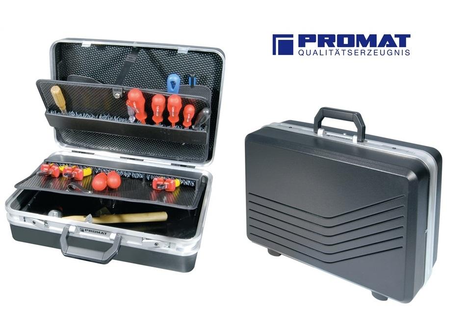 Zwarte servicekoffer van ABS kunststof | DKMTools - DKM Tools
