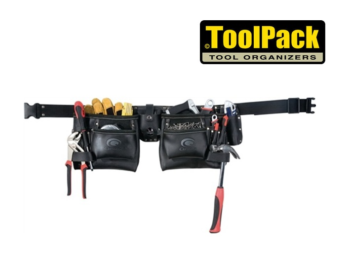 Toolpack lederen gereedschapsgordel met 2 houders | DKMTools - DKM Tools