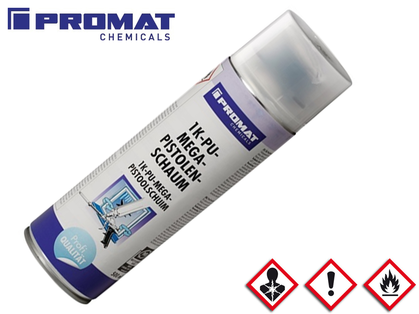 1C-pistoolschuim 500 ml B2 geel   DKMTools - DKM Tools