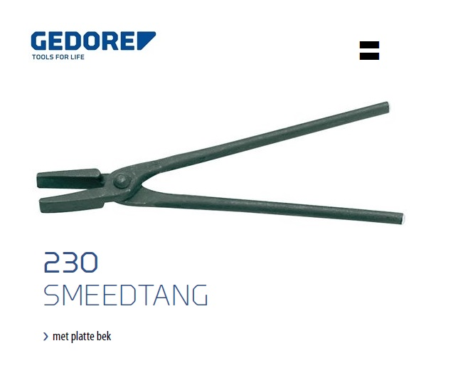 Gedore 230 Smeedtang met platte bek | DKMTools - DKM Tools