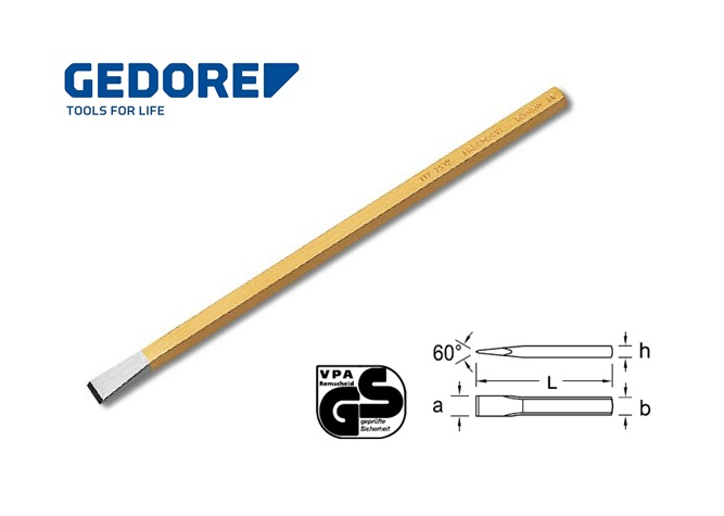Gedore 112.Electriciens beitel 4 kantig | DKMTools - DKM Tools