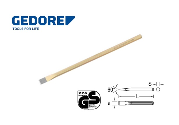 Gedore 112A.Electriciens beitel 8 kantig | DKMTools - DKM Tools