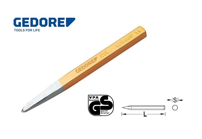 Gedore 203.Tegelbeitel 4 kantig met punt | DKMTools - DKM Tools