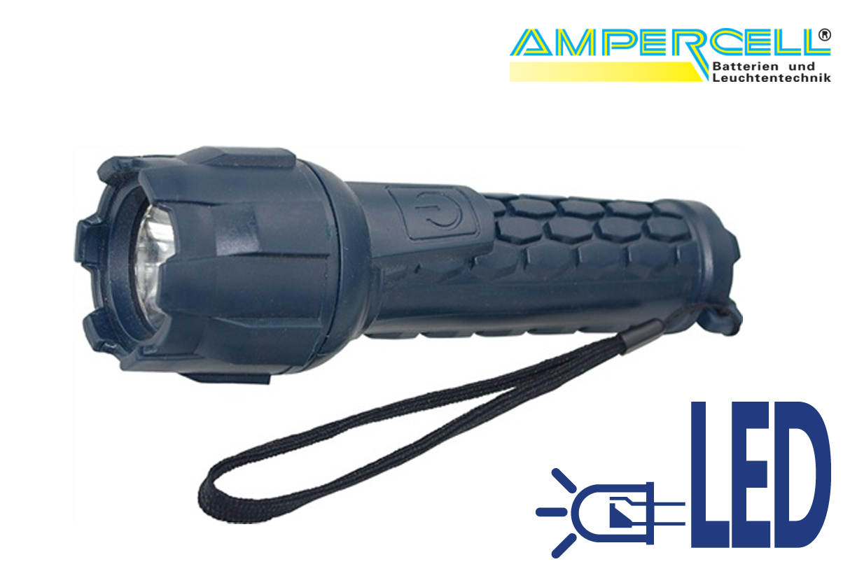 Zaklamp LED rubber lamp Racer 1 W | DKMTools - DKM Tools