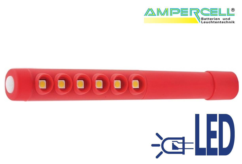 Zaklamp Universeel LED licht SPY 720 kleur rood | DKMTools - DKM Tools