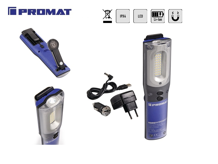 LED-accuhandlamp 3,7 V | DKMTools - DKM Tools