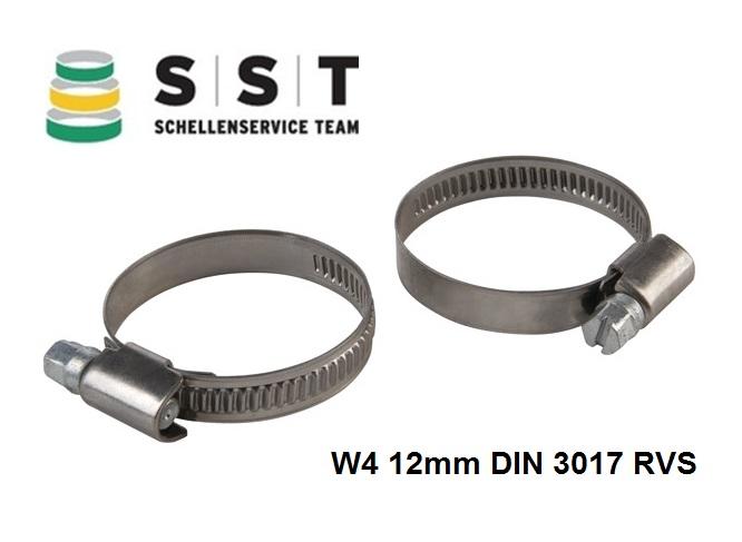 Slangenklemmen W4 12mm DIN 3017 RVS | DKMTools - DKM Tools
