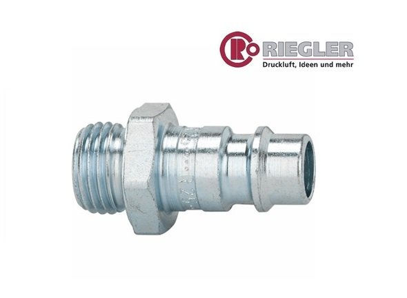 RIEGLER Steeknippel buitenschroefdraad staal | DKMTools - DKM Tools