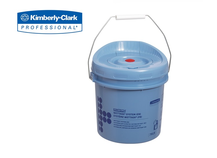 WETTASK Poetsdoek Dispenser - Emmer - Blauw   DKMTools - DKM Tools