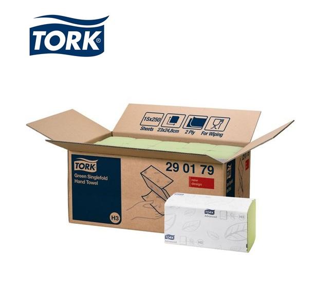 Tork 290179 Handdoek Groen 2-laags H3   DKMTools - DKM Tools