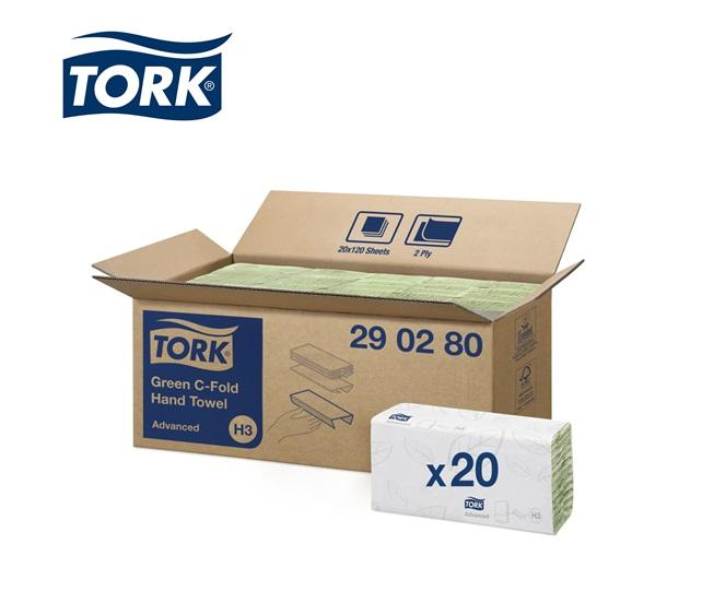 Tork 290180 Handdoek Groen 2-laags   DKMTools - DKM Tools
