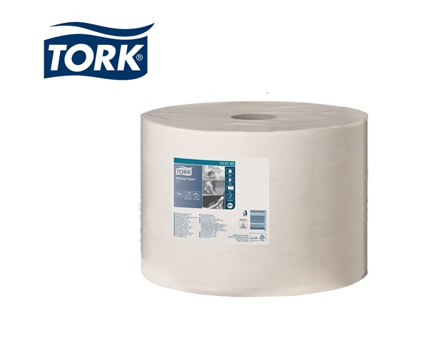 Poetsdoek Tork 130100 universeel wit 1-laags   DKMTools - DKM Tools
