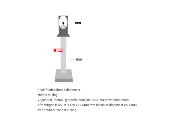 Desinfectiekolom + dispenser | DKMTools - DKM Tools