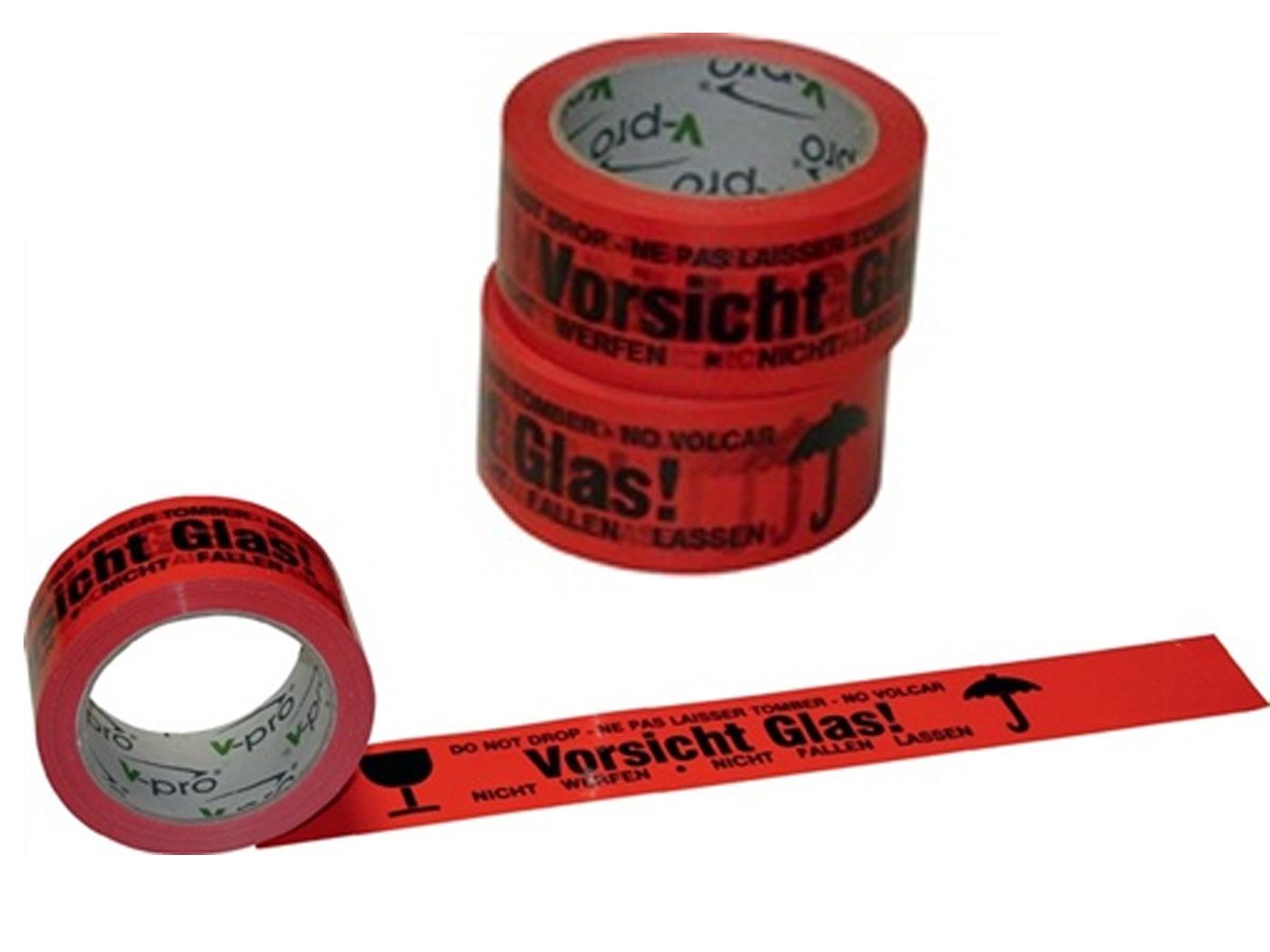 Verpakkingsplakband Voorzichtig glas   DKMTools - DKM Tools
