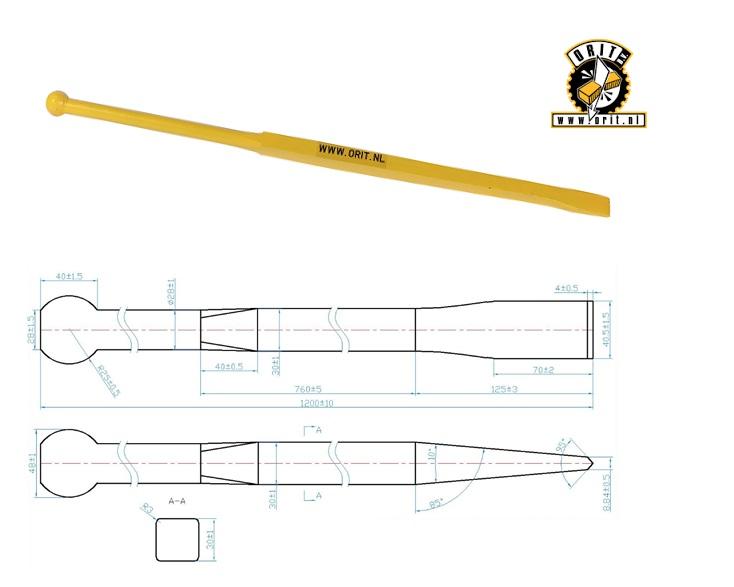 Stootijzer rond vierkant 1200 CB RS | DKMTools - DKM Tools