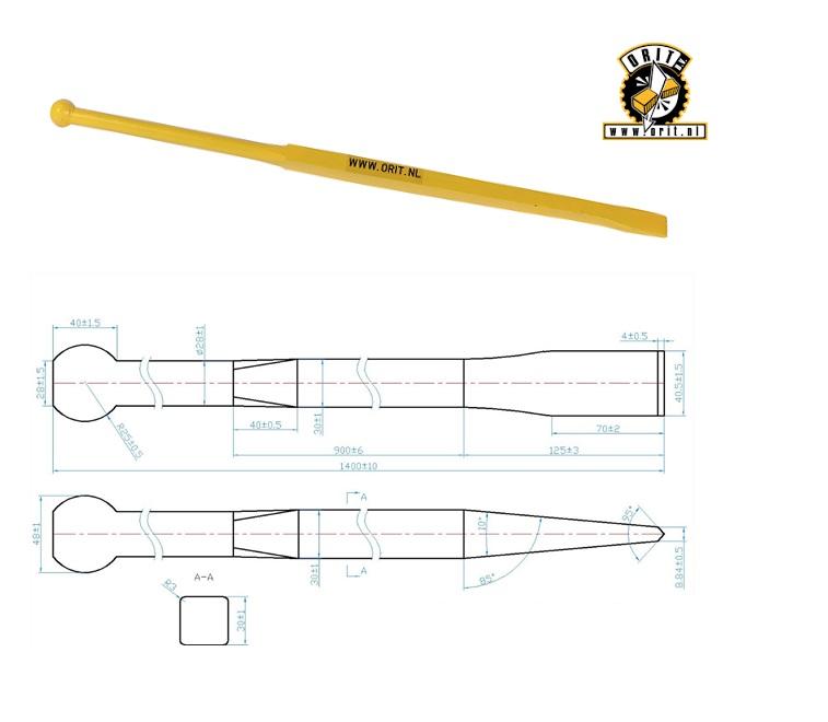 Stootijzer rond vierkant 1400 CB RS | DKMTools - DKM Tools