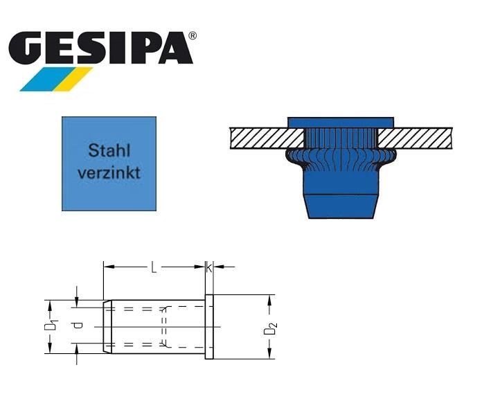 Gesipa blindklinkmoer Vlakrondkop staal | DKMTools - DKM Tools