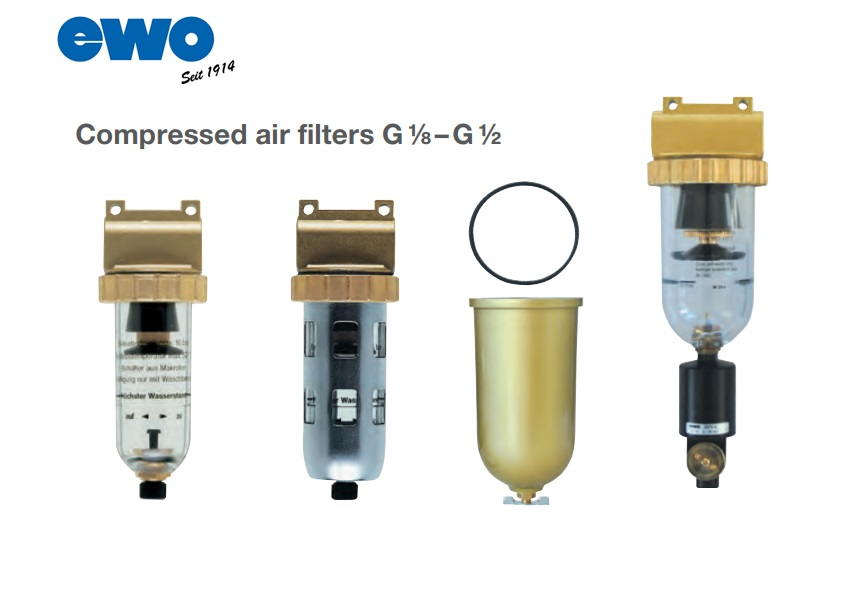 Persluchtfilters G 1/8–G ½ | DKMTools - DKM Tools