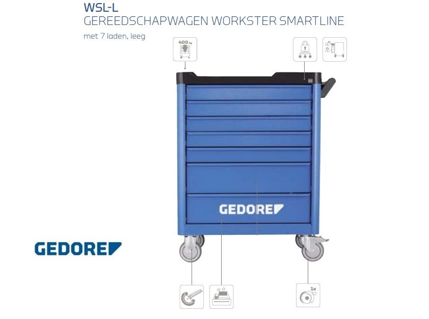 Gedore WSL-L.Gereedschapswagen   DKMTools - DKM Tools