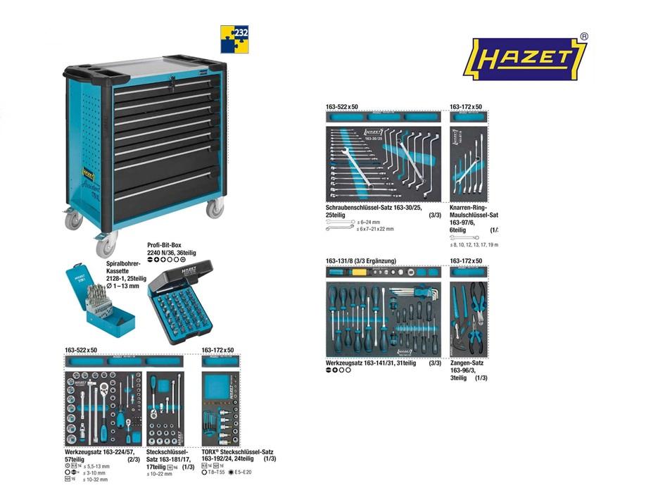 Hazet Gereedschapwagen set 179XL-7-232   DKMTools - DKM Tools