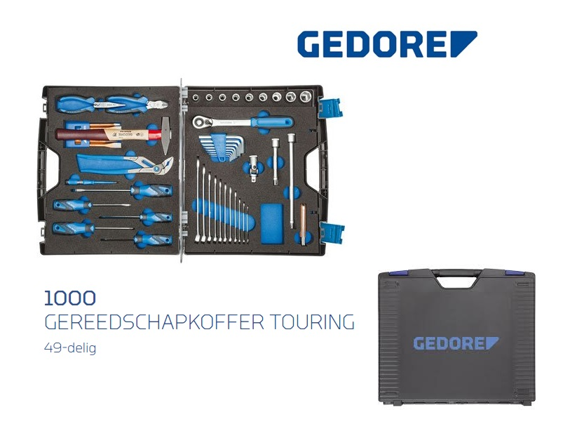 Gedore 1000 Gereedschapkoffer TOURING | DKMTools - DKM Tools
