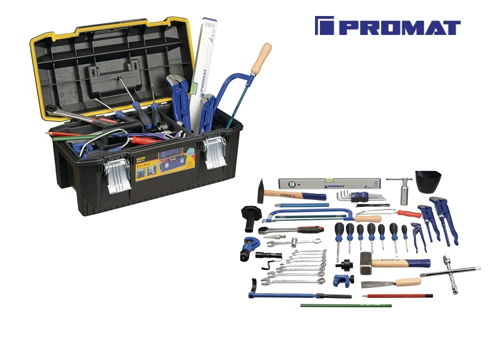 Sanitair gereedschapkoffer Promat | DKMTools - DKM Tools
