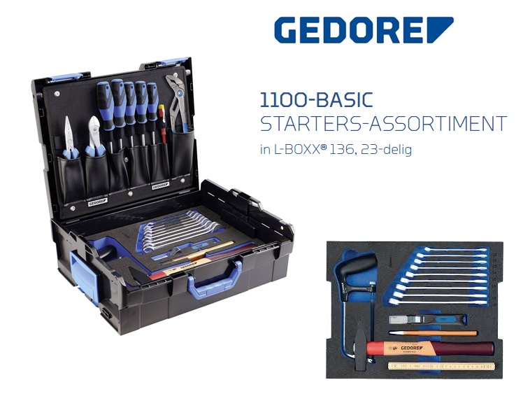 Gedore 1100-Basic Starters-assortiment in L-BOXX | DKMTools - DKM Tools