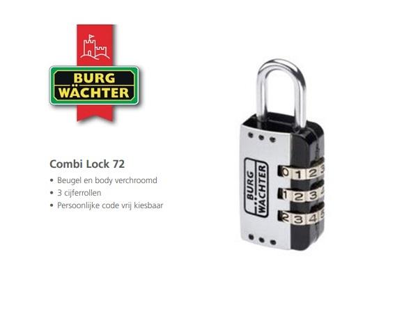 Cijferhangslot Combi Lock 72 25 SB | DKMTools - DKM Tools