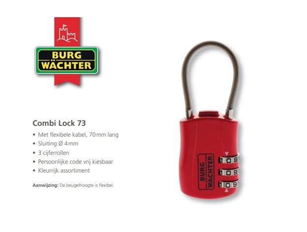 Cijferhangslot Combi Lock 73 30 SB | DKMTools - DKM Tools