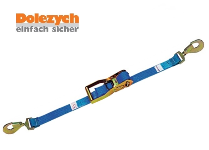 Spanband polyester 2-dlg met Karbijnhaak 4000 daN   DKMTools - DKM Tools