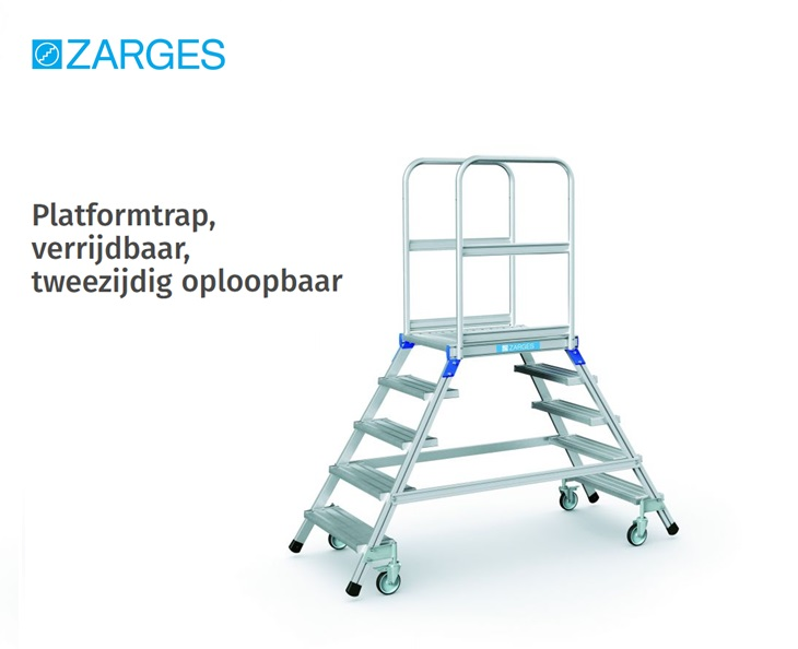 Platformtrap verrijdbaar tweezijdig oploopbaar | DKMTools - DKM Tools