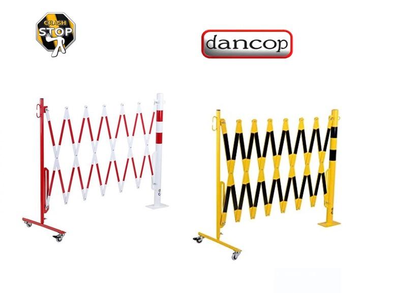 Schaar barriere Geel-Zwart met wielen-paal | DKMTools - DKM Tools