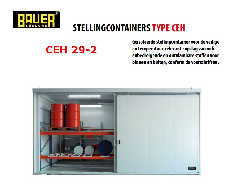 Geisoleerde stellingcontainer CEH 29-2 | DKMTools - DKM Tools