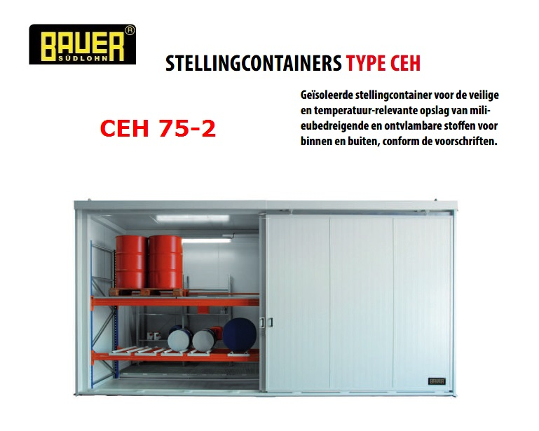 Geisoleerde stellingcontainer CEH 75-2 | DKMTools - DKM Tools