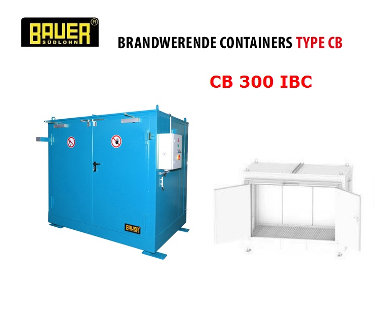 Brandwerende Containers CB 300 IBC | DKMTools - DKM Tools