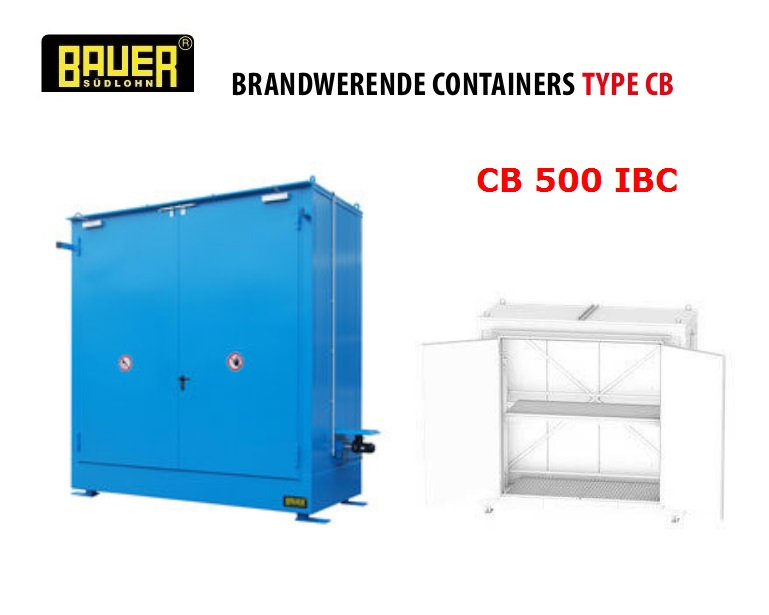 Brandwerende Containers CB 500 IBC | DKMTools - DKM Tools